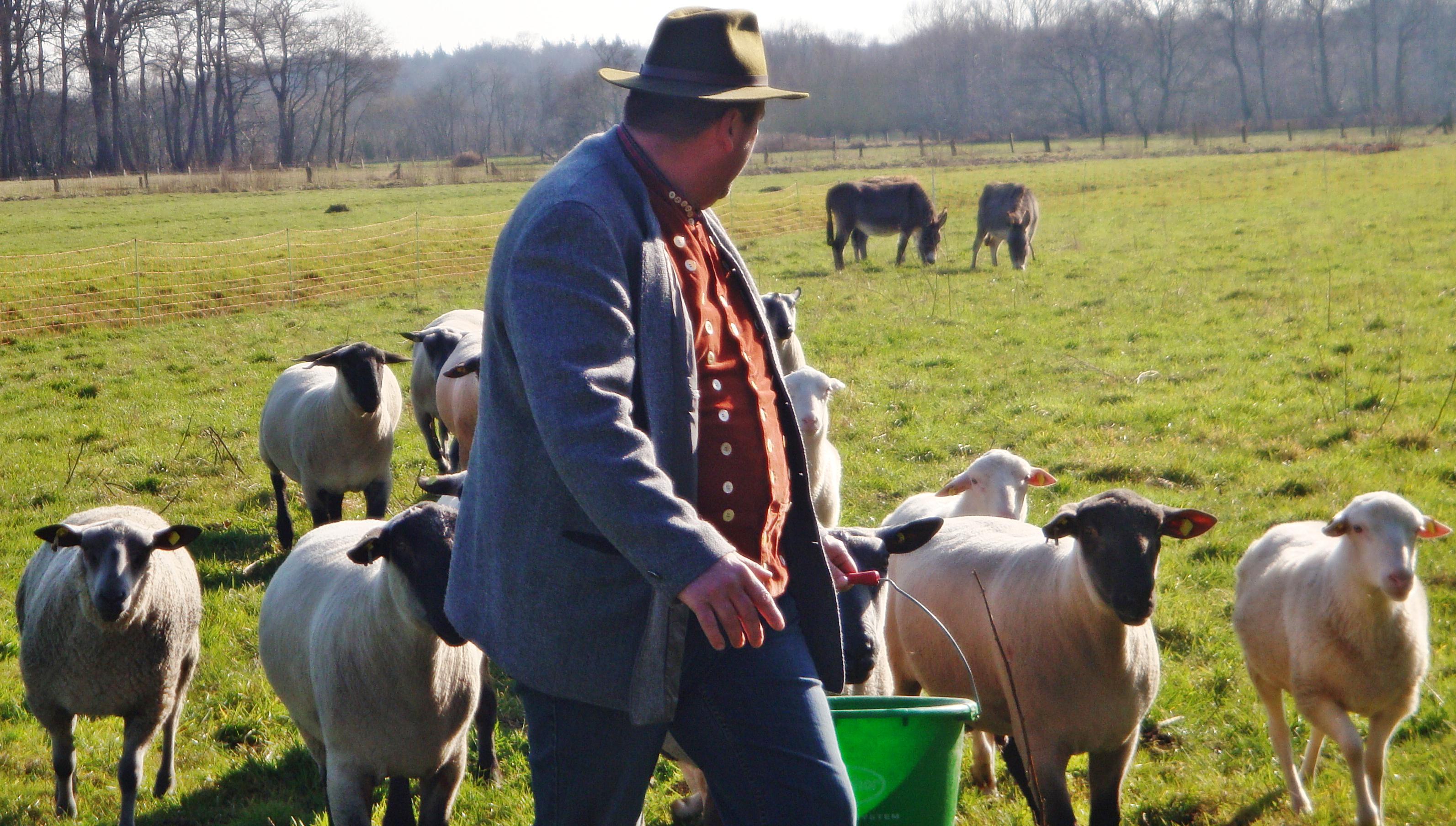 Staatsekretärin Almut Kottwitz trifft sich mit Schafzüchtern